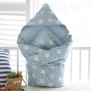 Baby receiving, wrap, swaddle blanket, cotton